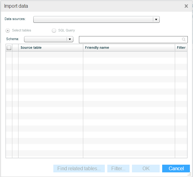 Importing Data from a Data Source